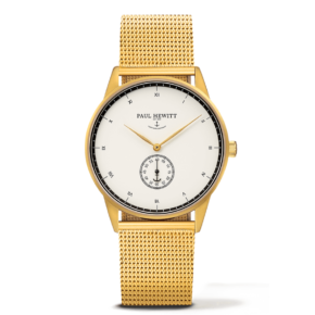 Signature Line Gold, White Ocean Metal Watchstrap Gold, WD-0