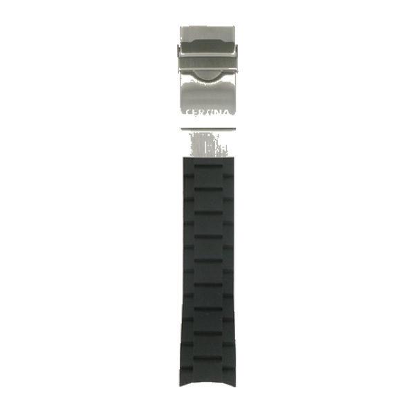 Certina DS Action Diver Svart gummiarmband + Lås-0