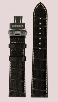 Certina DS Podium Mörkbrunt Läderarmband med Spänne. OBS, bara bandet!!-0