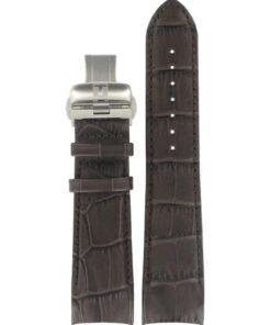 Tissot Couturier Brunt Läderarmband XL inkl. spänne-0