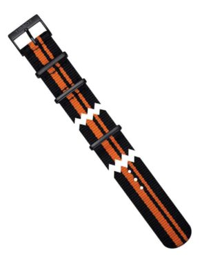 Tissot Quickster Black/Orange Synthetic Nato Strap 19mm-0